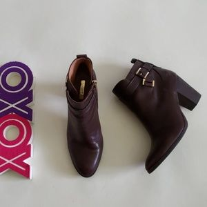 LOUISE ET CIE vianne brown ankle booties